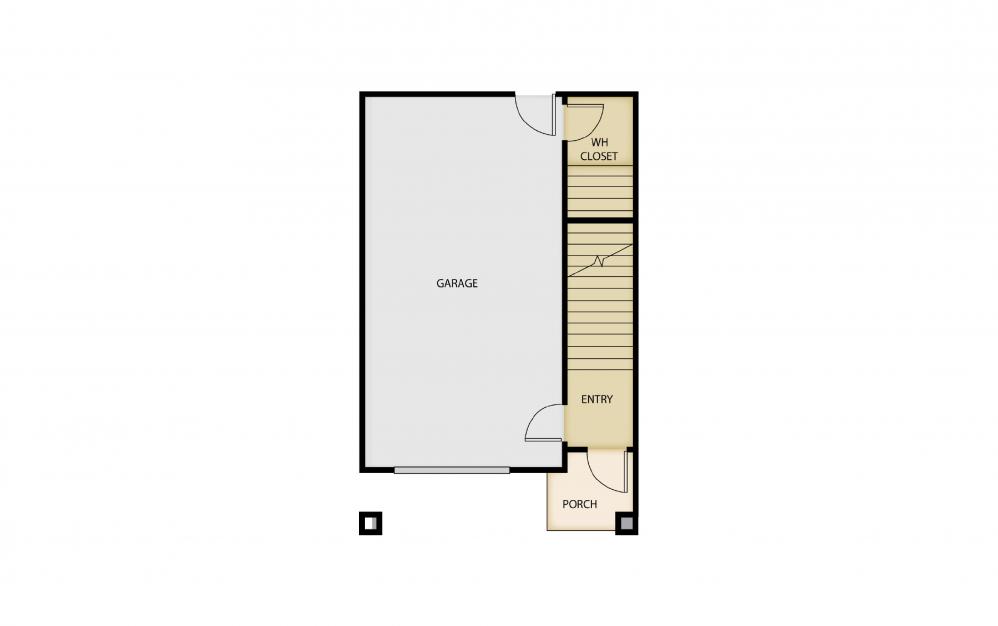 B6 - 2 bedroom floorplan layout with 1.5 bath and 1463 square feet. (Floor 1)