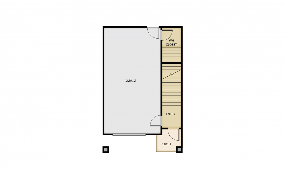B6a - 2 bedroom floorplan layout with 1.5 bath and 1445 square feet. (Floor 1)